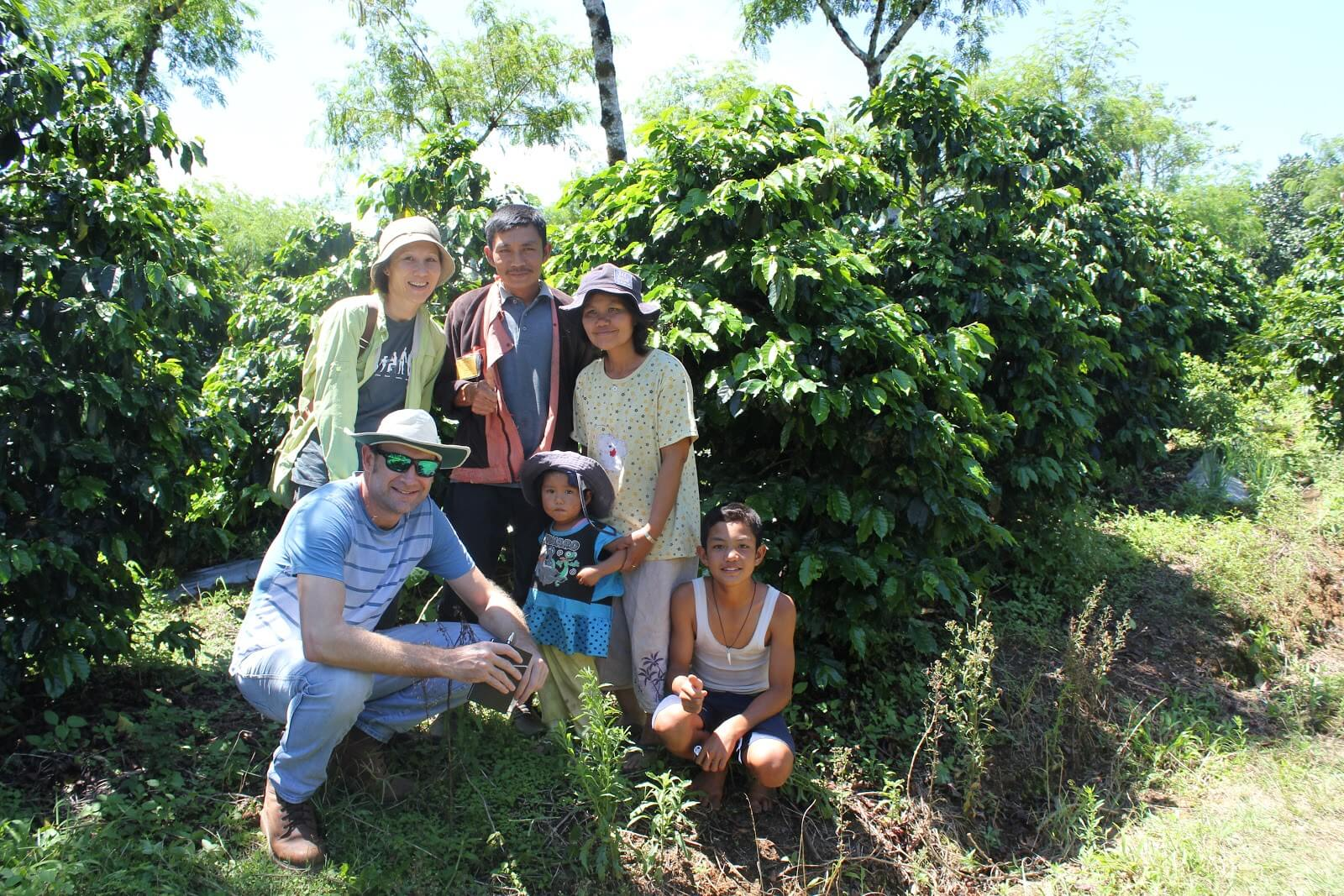 Seven Miles in Sumatra - visiting coffee plantation