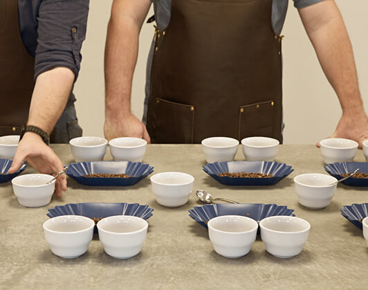 Cupping Room - cups ready