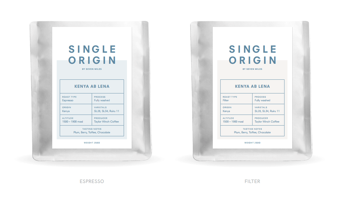 Specialty Single Origin packs