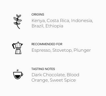Black Mountain Coffee Blend Information