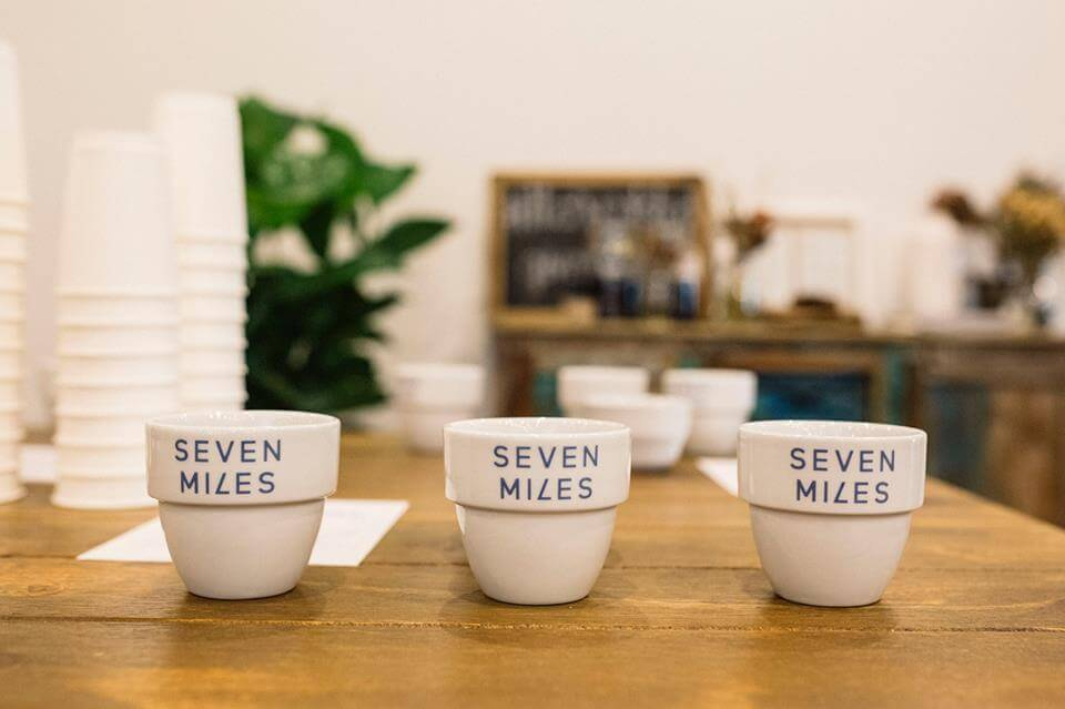 Seven Miles Cupping photo - 3 cups