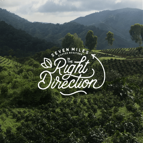coffee farm with seven miles sustainability message