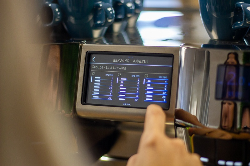 Rancilio RS1 touchscreen