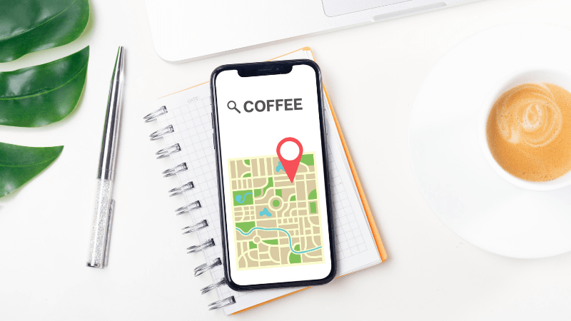 how to put your cafe on the map header graphic