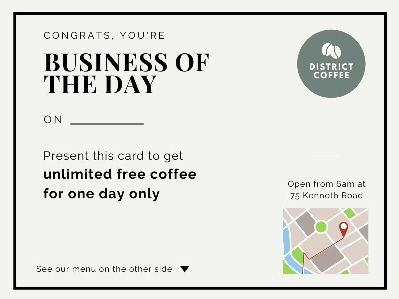 cafe business of the day marketing flyer